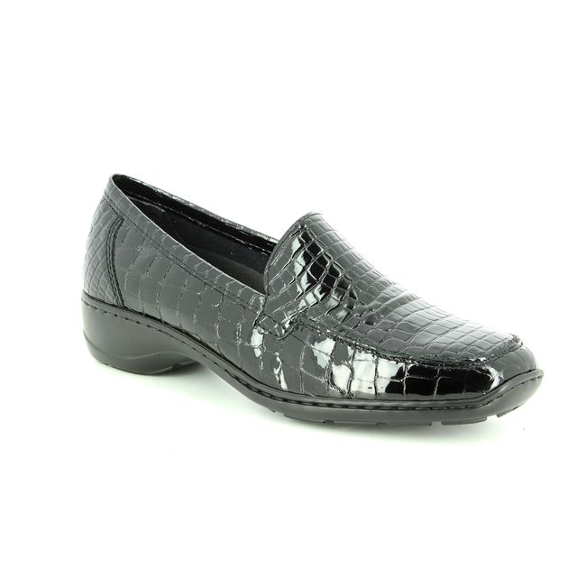 Rieker Comfort Shoes - Black croc - 583A0-00 DORTESSA