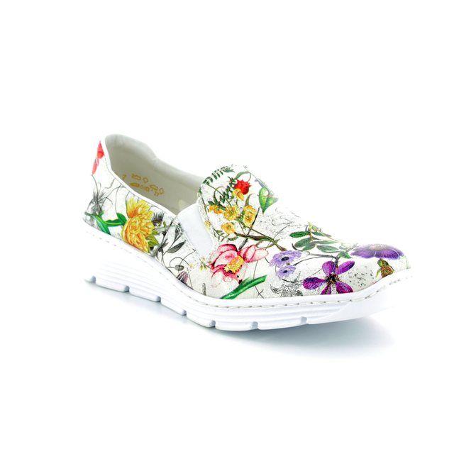 Rieker Comfort Shoes - Floral print - 58766-90 BOCCO