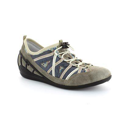 Rieker 59587-43 Blue multi lacing shoes