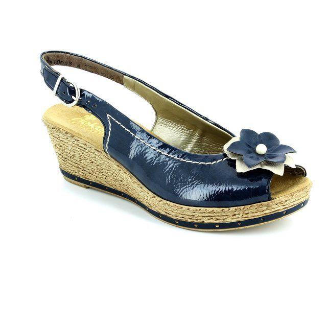 Rieker 60480-14 Blue sandals