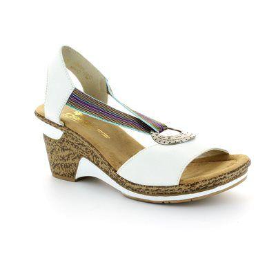 Rieker 60662-80 White sandals