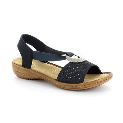 Rieker 60819-14 Navy sandals
