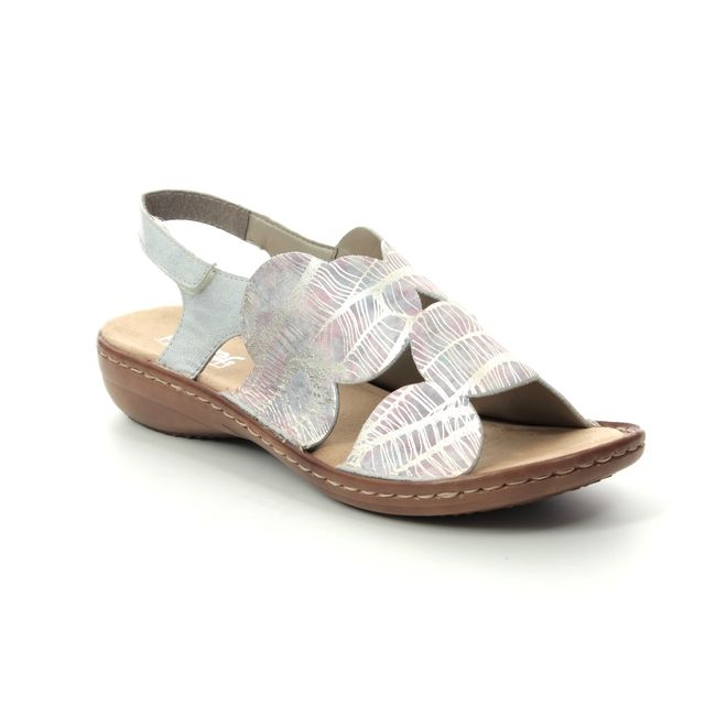 Rieker Comfortable Sandals - Rose - 60819-90 REGIORE