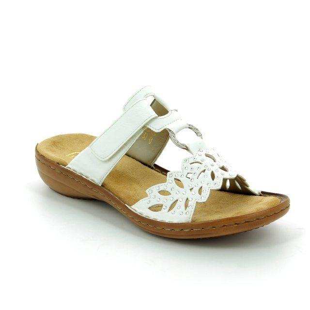 Rieker 608A6-80 White sandals