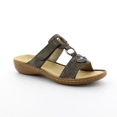 Rieker Sandals - Pewter - 608K1-45 REGINAP