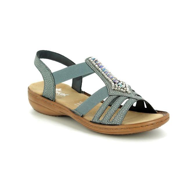 Rieker 608S1-42 Grey sandals