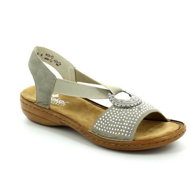 Rieker 608Y4-60 Beige sandals