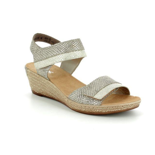 Rieker 62470-64 Gold sandals