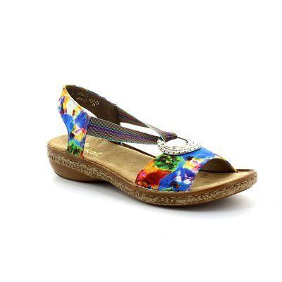 Rieker 62822-90 Floral print sandals