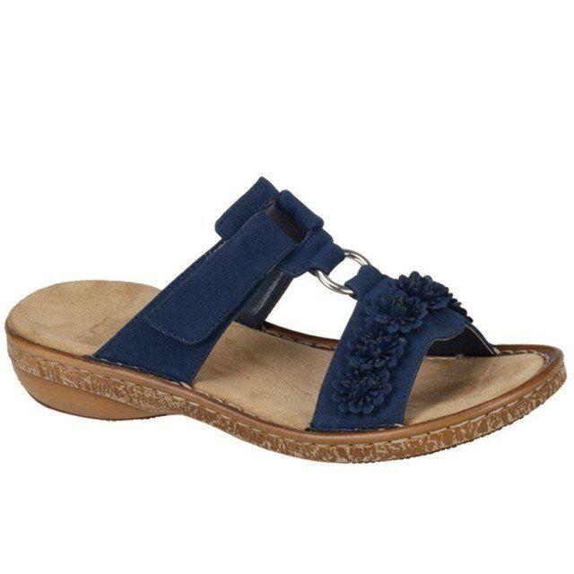 Rieker 62892-14 Navy sandals