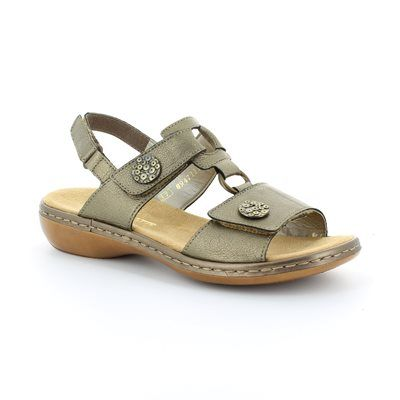 Rieker Sandals - Pewter - 65974-90 TITAN