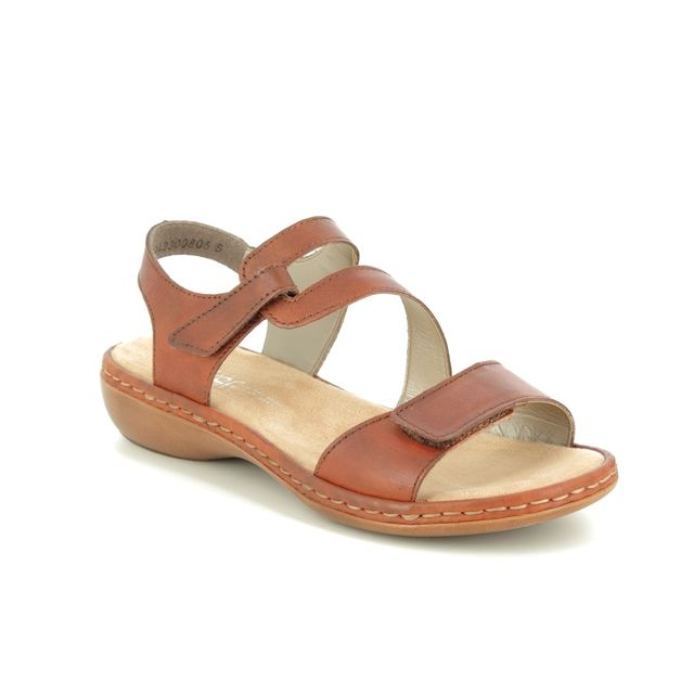 Rieker Comfortable Sandals - Tan - 659C7-24 TITILATER
