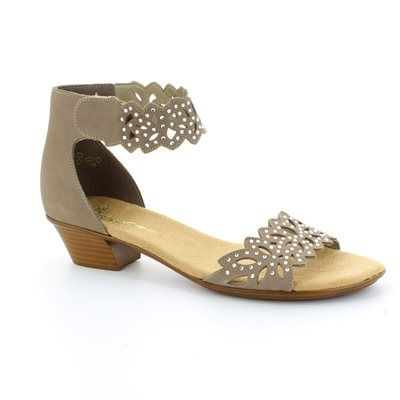 Rieker 68396-64 Taupe nubuck sandals