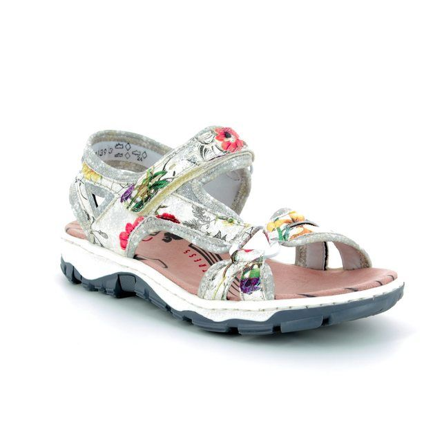 Rieker Walking Sandals - Floral print - 68879-90 BARRIER