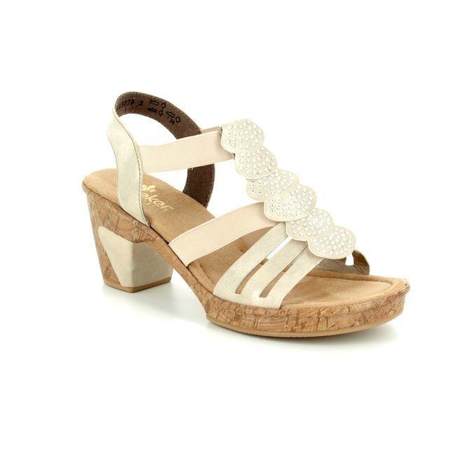 Rieker Sandals - Gold - 69702-60 ROBRUFFLE