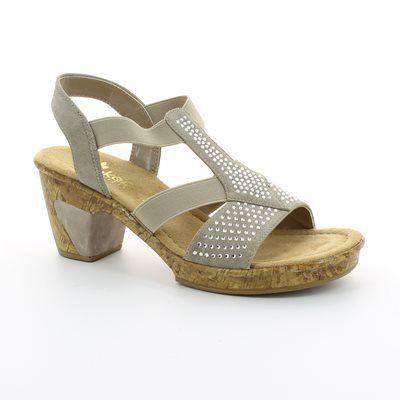 Rieker 69732-60 Beige sandals