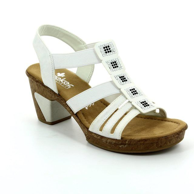 dea6df9d355a Rieker Heeled Sandals - Off white - 69761-80 ROBSQUARE
