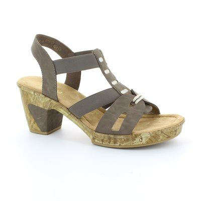 Rieker 69770-43 Taupe sandals