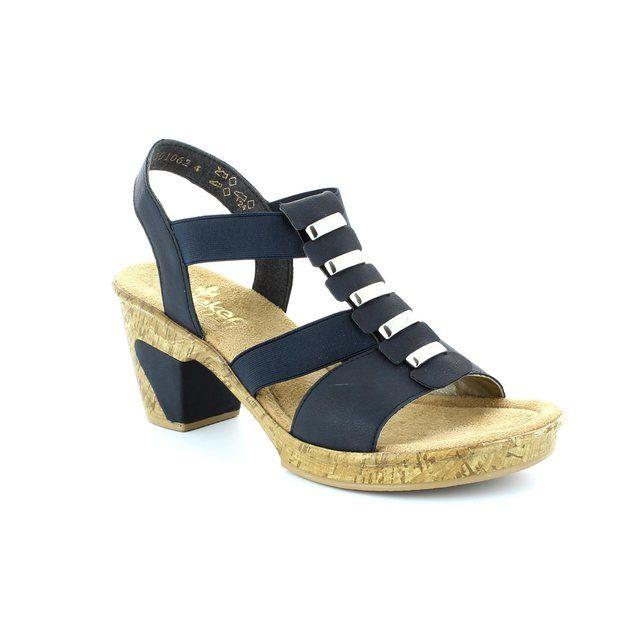 Rieker 69792-14 Navy sandals