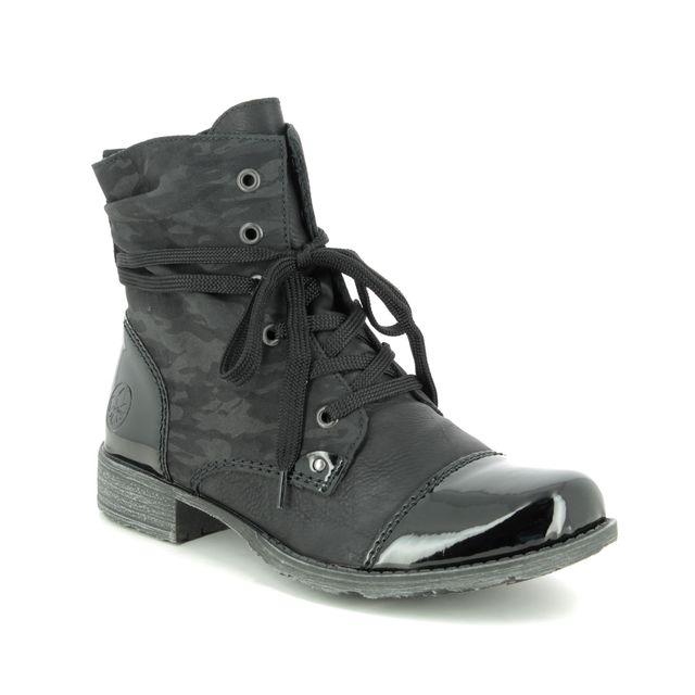 Rieker Ankle Boots - Black patent - 70822-00 PEEMICAMO