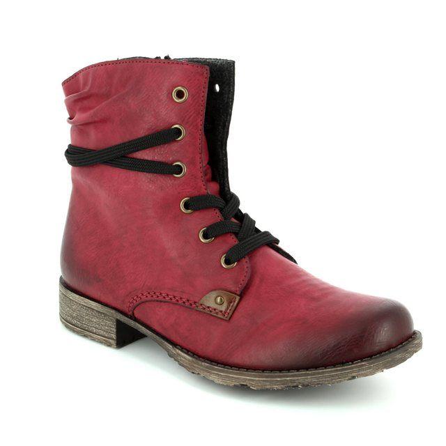 Rieker Ankle Boots - Wine - 70829-35 PEERLESS