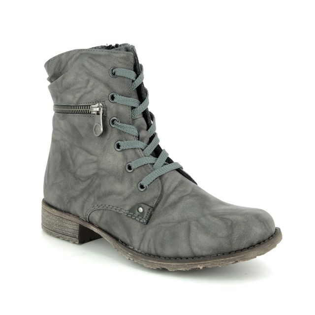 Rieker 708F9-42 Grey Ankle Boots