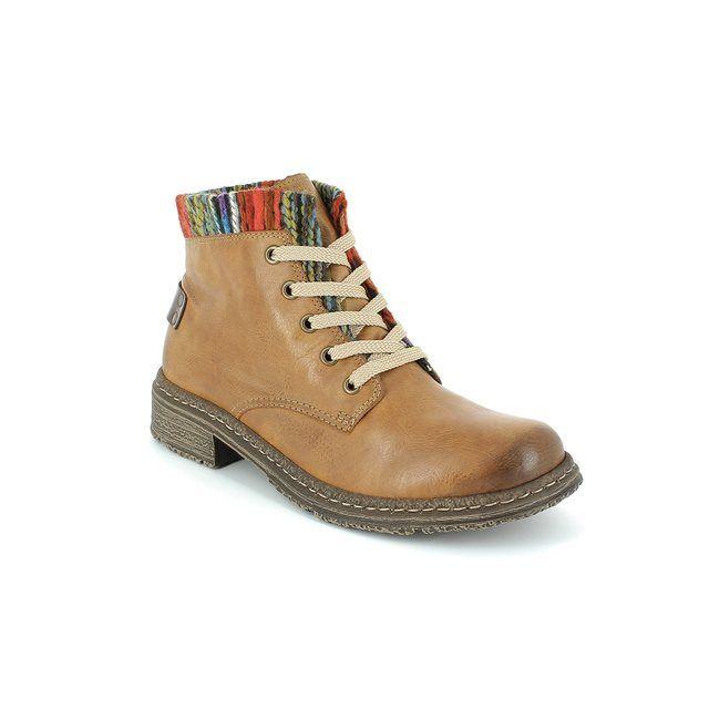 Rieker Ankle Boots - Tan - 74214-24 PEEPS