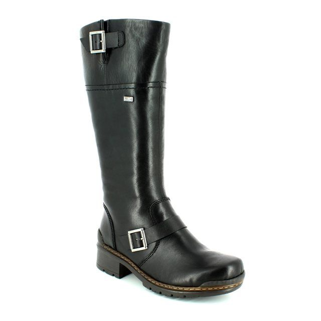 Rieker 74385-00 Black long boots