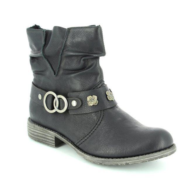 Rieker 74798-00 Black ankle boots