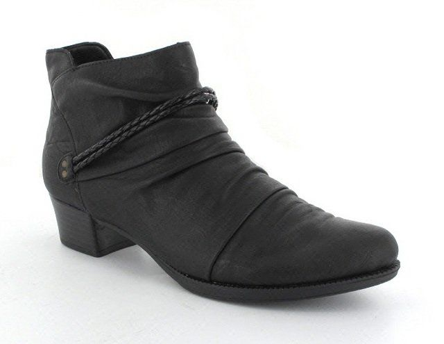 Rieker 76664-00 Black ankle boots