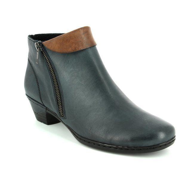 Rieker Ankle Boots - Navy-tan - 76961-14 LYNNCUFF