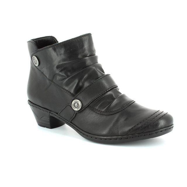 Rieker 76963-01 Black ankle boots