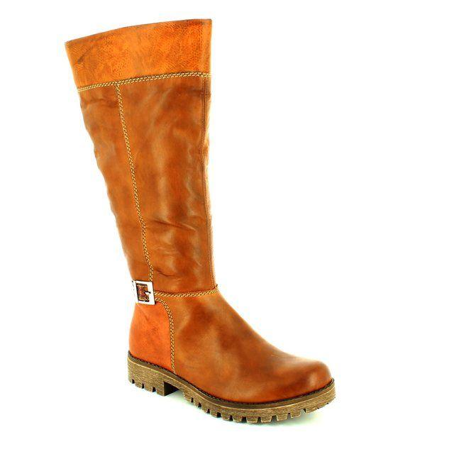 Rieker 78583-26 Brown knee-high boots