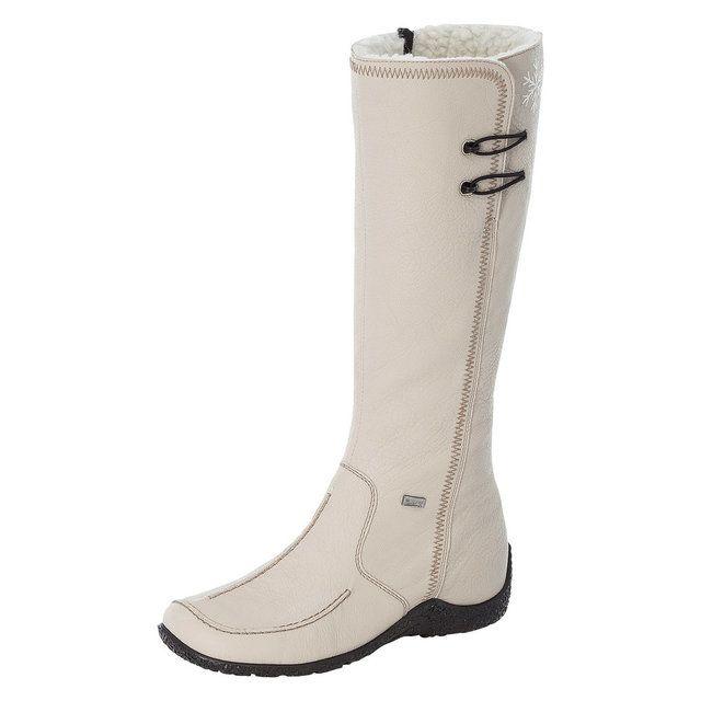 Rieker 79952-60 Off-white knee-high boots