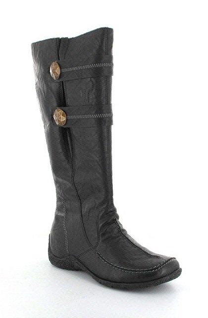 Rieker 79970-01 Black knee-high boots