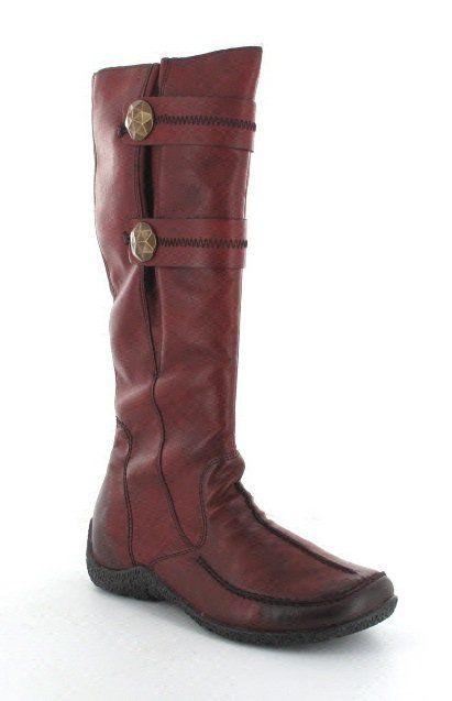 Rieker Knee-high Boots - Wine - 79970-36 ASTRID