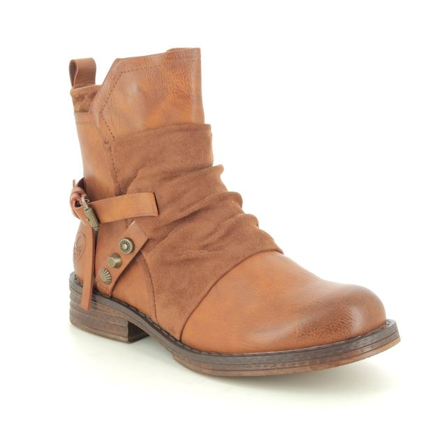 Rieker Fashion Ankle Boots - Tan - 92264-24 PEEKATA