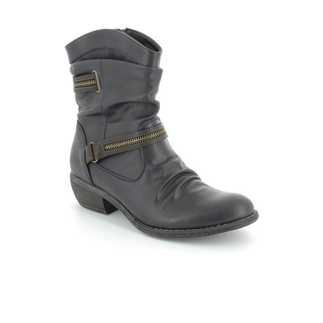 Rieker 92982-14 Navy ankle boots