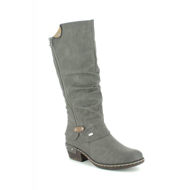 Rieker 93655-45 Grey knee-high boots
