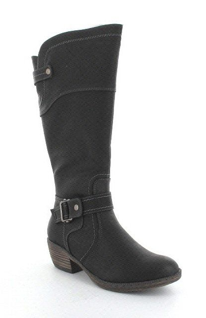 Rieker 93750-00 Black knee-high boots
