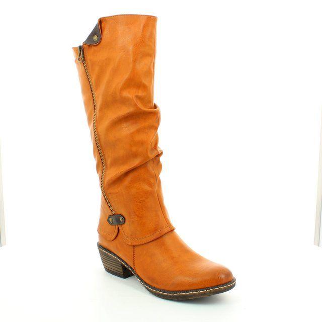 Rieker 93755-24 Tan knee-high boots