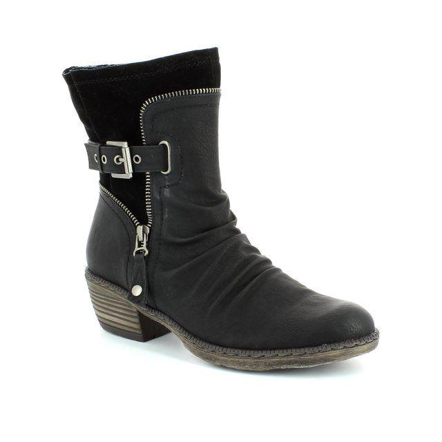 Rieker Ankle Boots - Black - 93761-01 BERNAZ