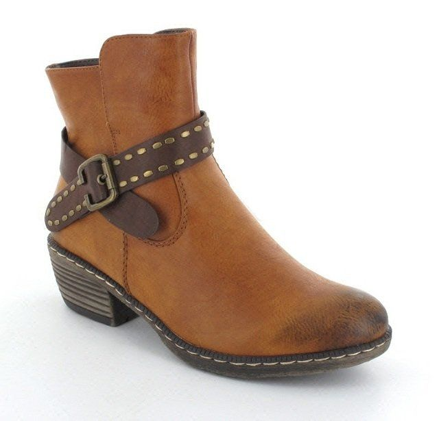 Rieker 93775-24 Tan ankle boots