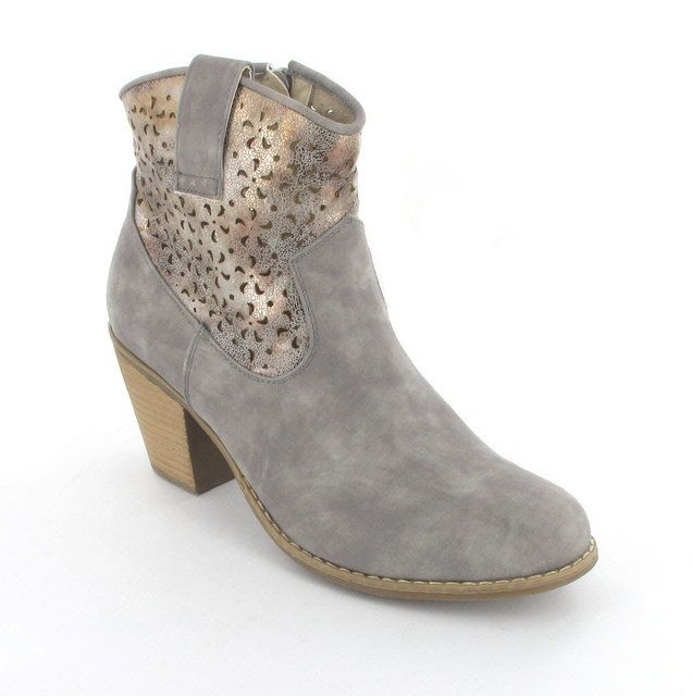 Rieker Ankle Boots - Light Grey - 94365-40 MAPUTO