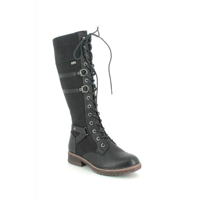 Rieker 94732-00 Black knee-high boots