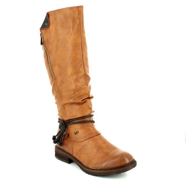 Rieker 94758-24 Tan long boots