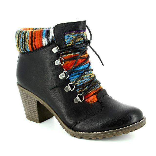 Rieker 95323-00 Black ankle boots