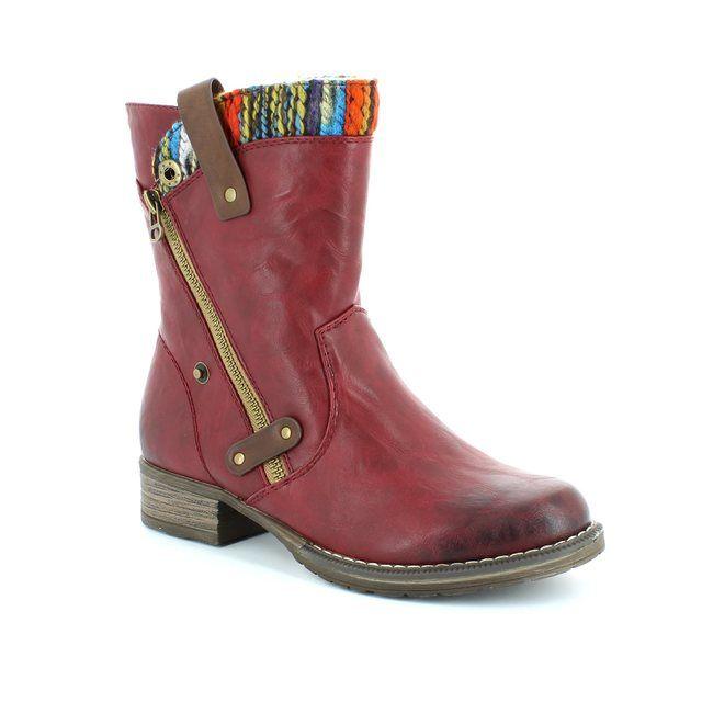 Rieker Ankle Boots - Wine - 95891-35 PEEK