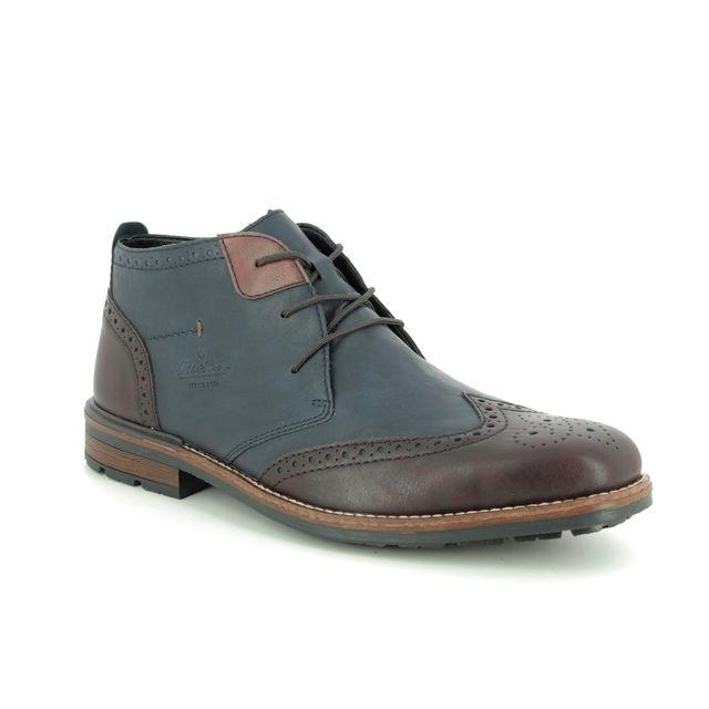 Rieker Boots - Navy Brown - B1343-35 BRAID
