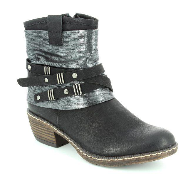 Rieker Boots - Black - K1483-01 BERNASTRA
